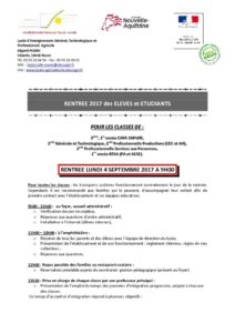 thumbnail of courrier rentrée 2017 Lycéens et étudiants