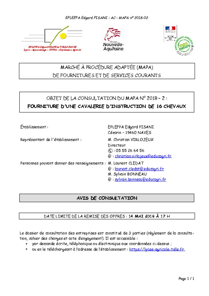 thumbnail of Avis de consultation
